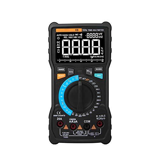 Voltímetro Amperímetro Multímetro digital Profesional 8000 cuentas True RMS Transistor Tester Transistor...
