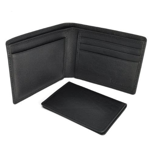 Polo By Ralph Lauren Men's Passcase Leather Wallet Black