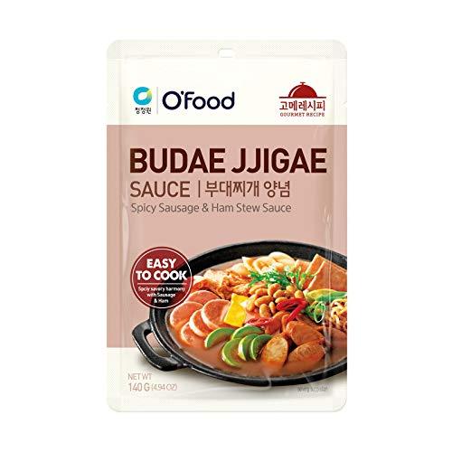 Daesang Chung Jung One O'Food Gourmet Recipe Budae Jjigae Sauce (Spicy Sausage & Ham Stew Sauce) 140g
