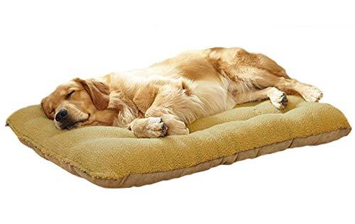 LIELIE Pet Dog Bed Dog Kennel Cushion Pet Bed with Reversible Cushion, Machine Washable Dog Basket,M:70 * 50cm