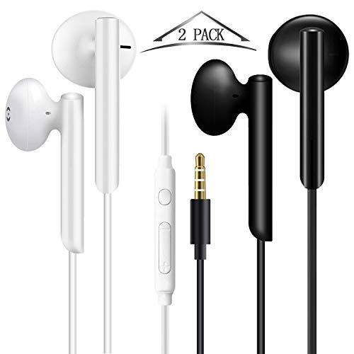 In Ear Kopfhörer, Stereo Ohrhörer mit Mikrofon, 3.5mm Headsets Ohrstöpseln und Premium HiFi-Klang, Geräuschabsenkung Kopfhörer Ideal für iPhone, Samsung, Sony, Huawei, Smartphone und MP3 Players usw.
