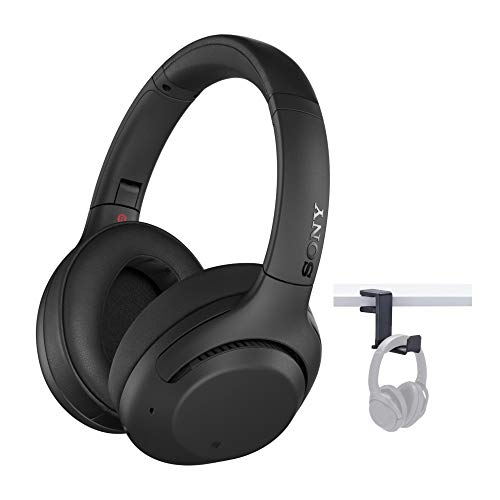 Sony WH-XB900N Extra BASS Wireless Noise Cancelling Headphones (Black) with Knox Gear Headphonemount Bundle (2 Items)