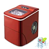 AGLUCKY Counter top Ice Maker Machine,Compact Automatic Ice Maker,9 Cubes Ready in 6-8...