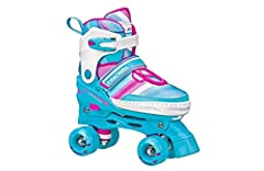 GET ROLLING: Safe and fun design that is great for both beginners and better skaters alike CUSTOM FIT: Adjustable sizing for growing feet. Expands up to 3 shoe sizes SMOOTH ROLLING: Grippy and durable urethane wheels loaded with speedy silver-5 beari...
