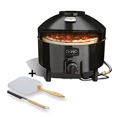 Pizzacraft Pizzeria Pronto Outdoor Pizza Oven - PC6000 and Pizzacraft Pizza Oven Accessories/Folding Peel & Stone Brush - PC0217