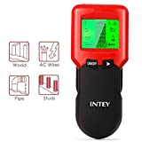 INTEY Stud Finder with 3 in 1 Scanning Mode and Center Finding Metal Stud for Wallpaper, Lath & Plaster, Extremely Textured Walls or Acoustic Ceilings