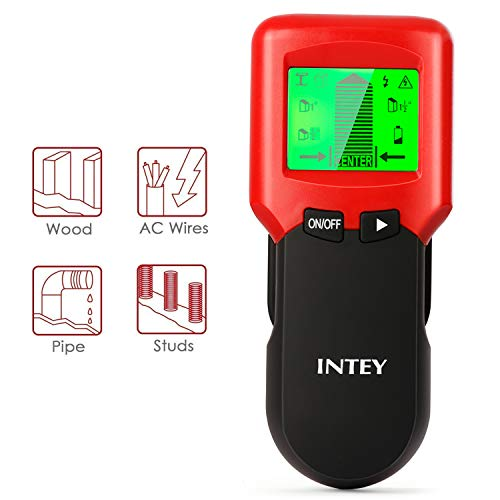 INTEY Stud Finder Wall Scanner-3 in 1 Scanning Mode and Center Finding Metal...