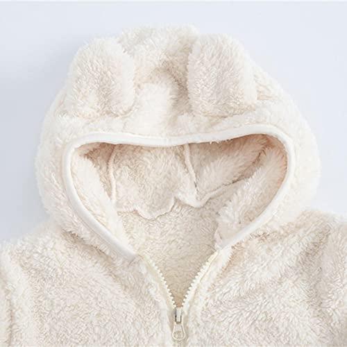 YWLINK NiñAs Abrigo De Oreja Abrigo Con Capucha Y Cremallera Gruesa Chaqueta Disfraz Invierno ReciéN Nacido Polar Abrigo Felpa Manga Larga Para NiñOs Chaqueta Felpa Gruesa De AlgodóN