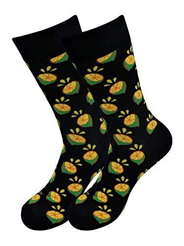 Lemons patterned socks