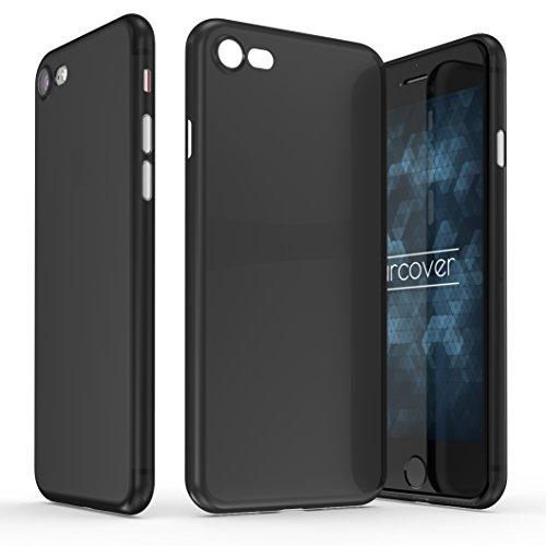 Urcover Ultra Thin Case Apple iPhone 7/8, Custodia Protettiva Ultrasottile, Back Cover Sillicone TPU Morbida AntiGraffio in Nero
