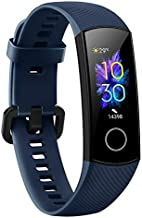 Honor Band 5 Smartband Standard Version, 0.95 Inch AMOLED Full Color Screen, IP68 50M Waterproof, Real Heart Rate Swimming Sports Tracker True Sleep Monitoring Pedometer (Blue)