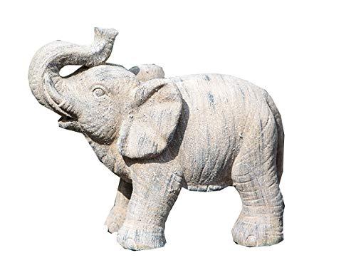 GILDE Outdoor Elefant Magnesi braun gewischt frostfest