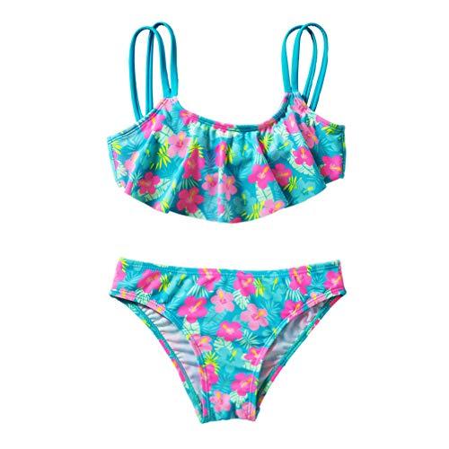 Tendycoco Badpak voor kinderen, bedrukt, badpak, chique, meisjes, schattige kleding voor de zomer, maat S (4 jaar)