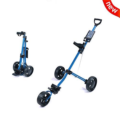 2020 New Golf Karren Duwen 3 Wheel Folding Golf Pull Trolley, Scorecard Voor Outdoor Travel Huis Sport Uitoefenen