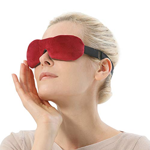 Heated Eye Mask, Moist Microwave 3D Eye Compress for Dry Eyes, Warm Compress for Chalazion, Stye Blepharitis and Migraine Treatment