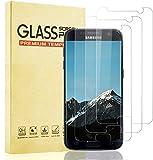 Lixuve 3 Unidades Protector de Pantalla para Samsung Galaxy S7 Cristal Templado, [Alta Definición] [9H Dureza] [Anti-Huella] [Alta Sensibilidad] Vidrio Templado