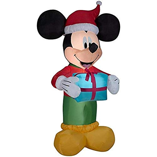 Disney 8.99-ft x 4.59-ft Lighted Mickey Mouse Christmas Inflatable