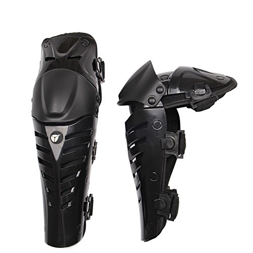 Motorrad Knieschützer Knieprotektor Knee Schutz Armschützer Protector Schutzausrüstung für Motocross MX Rennen Erwachsene schwarz