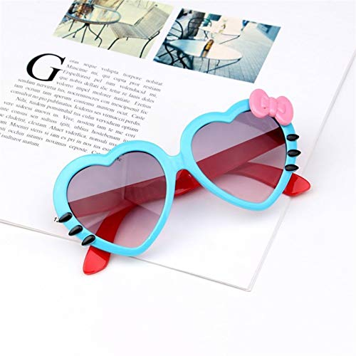 DFSMG Niños corazón Gafas de Sol Encantadoras Gafas para niños y niñas niños Gafas de Sol Tonos para niños UA400 (Lenses Color : Blue)