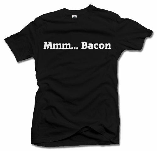 AM T-Shirts MMM.Bacon Funny Bacon T-Shirt XL Black Men's Tee (6.1oz)