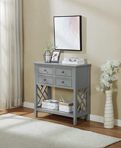 Alaterre Furniture Coventry - Consola de Mesa, Color Gris