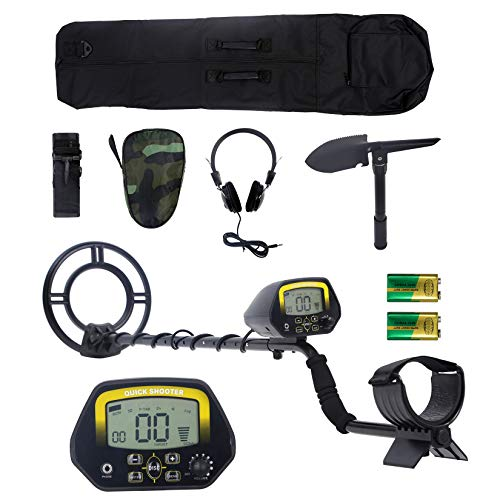 EROSMILE Metal Detector Kit, Adjustable Metal Finder for Adults and Kids with LCD Display,Pinpoint Function & DISC Mode, 10 Inch Waterproof Search Coil,Full Accessories Treasure Hunt Easy Operation.