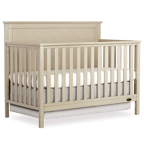 Dream On Me Skyline 5 In 1 Convertible Crib in Opal
