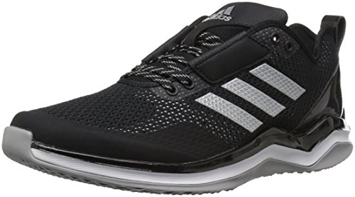 adidas Men's Speed Trainer 3 Shoes, Black/Metallic Silver/White, 10.5 M US