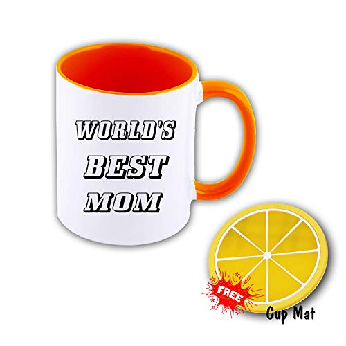 World's Best MOM 11 oz Mug Inside The Color Cup Color Changing Cup, The Best Gift Cup, Birthday Present.Multiple Colors to Choose from