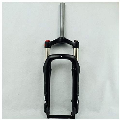 Horquilla de suspensión Ultraligera BMX Fork Bike Bike Frente FORTAL para LA Bicicleta 20 Pulgadas Aluminio Aire Aire Suspensión de Aire 100mm Travel 1-1/8'Steerer para Neumático de 4.0' Accesorios