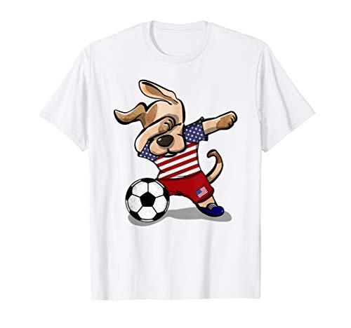 USA Dog Dabbing Soccer Boy United States Soccer Jersey 2019