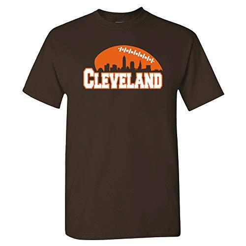 Xtreme Apparrel Football Skyline Shirt (2XL) Brown