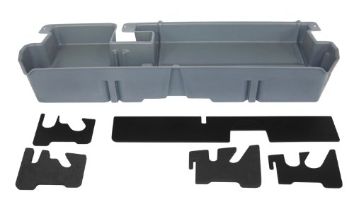 DU-HA Under Seat Storage Fits 07-17 Toyota Tundra Double Cab without Subwoofer, Dk Gray, Part #60052