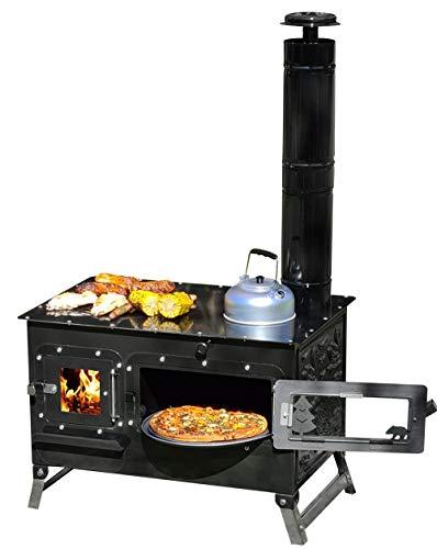 ECOfoxx Gartenbackofen Grill Outdoor-Herd Rosalie Pizzaofen Gartenkamin inkl. Schornstein Außenküche