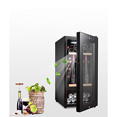 FREIHE Weinkühlschrank 110 Liter 41 Flasche Weinkühler Weinklimakühlschrank Mini Kühlschrank Minibar mit Glastür LED Beleuchtung Display, Black