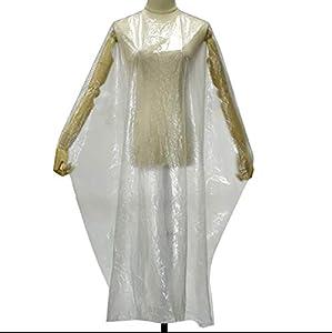 Vinchiq - Abiti monouso extra large per parrucchieri, 130 x 160 cm, confezione da 50 grembiuli, mantellina per capelli e capelli, mantella da parrucchiere, per uomo e donna, grembiule da barbiere