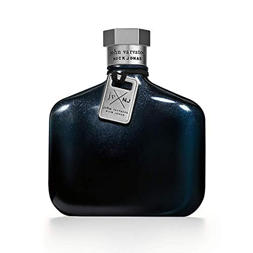 John Varvatos JV X NJ Blue – Eau de Toilette homme/men, 125 ml, dezenter Herrenduft, fruchtig-frische Kombination aus Wasser- & Citrus-Noten, im blauen Design Flakon