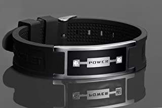 Ion Power Wristband (Anti EMF), Far Infrared Ray 2000 Gauss Biodynamic Magnets, Increased Energy+ Oxygenation of Blood, EMF Protection