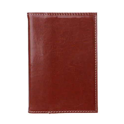 GROOMY Notas Post-Its, Mini portátil de Bolsillo Diario portátil Libro de Diario Funda de Cuero PU Almohadillas de Notas -3