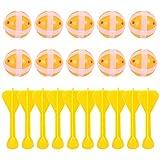 CLISPEED Juego de 20 pelotas de velcro con dardos para niños, juego...