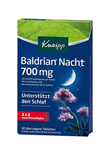 Kneipp Baldrian Nacht Tabletten 700 mg, 6er Pack (6 x 30 Tabletten)