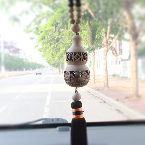 DBDCH Productos de Madera Calabaza Budista Coche Amuleto Colgante Orna