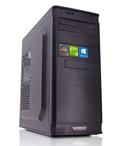 dcl24.de Office PC [11650] AMD Ryzen 5-3600X 6x3.8 GHz - 8GB DDR4, 240GB SSD & 1TB HDD, GT1030 2GB, WLAN, Windows 10