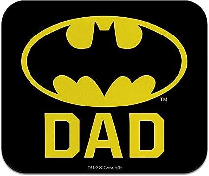 Alfombrilla de ratón fina con logotipo de Batman Bat Dad Shield de perfil bajo