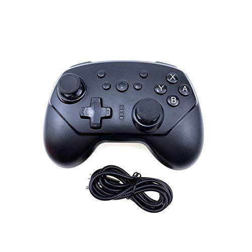 Game Controller Pc |Drahtloser Bluetooth Gamepad Joystick Controller für NS Pro Switch / Lite Switch Unterstützt TURBO Sechs-Achsen-Gyroskop für N-Switch-Black-
