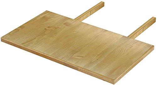 Brasilmöbel Ansteckplatte 50x90 Brasil Rio Classiko oder Rio Kanto - Pinie Massivholz Echtholz - Größe & Farbe wählbar - für Esstisch Tischverlängerung Holztisch Tisch Erweiterung ausziehbar