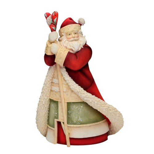 Enesco Heart of Christmas Santa with Staff Figurine, 8-1/4-Inch