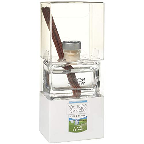 Yankee Candle Clean Cotton Mini Reed Diffuser 1.2 Fluid Ounce, 12-Piece Set