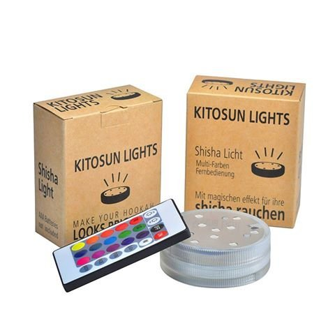 KITOSUN Unterwasser Licht, LED Farbwechsel, wasserdichte LED Licht Mit Fernbedienung für Vase Base Aquarium Teich Halloween Party Weihnachten