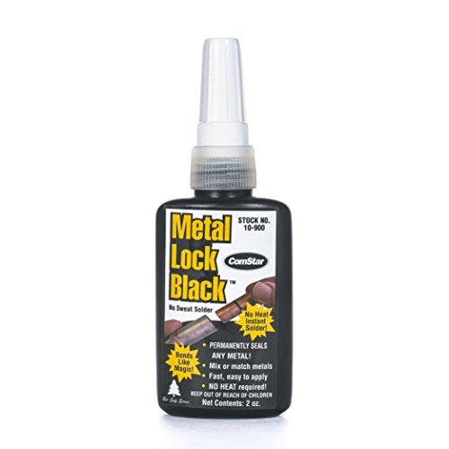 ComStar Metal Lock, Black HVAC No Heat Solder, 2 oz. Plastic Container
